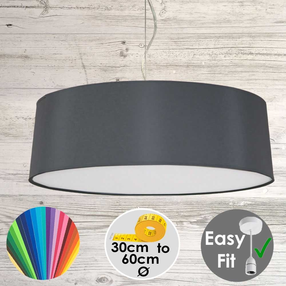 Charcoal Drum Light Shade